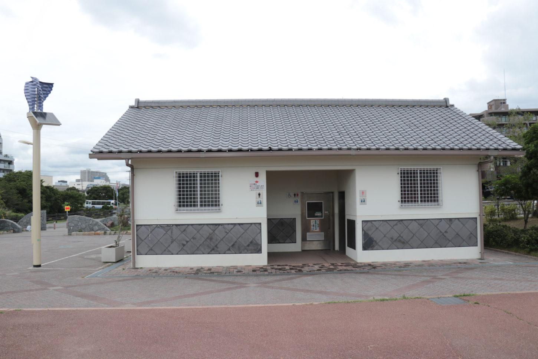 松江公園のトイレ