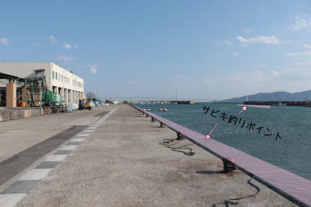 サビキ釣りのポイント写真(林崎漁港)