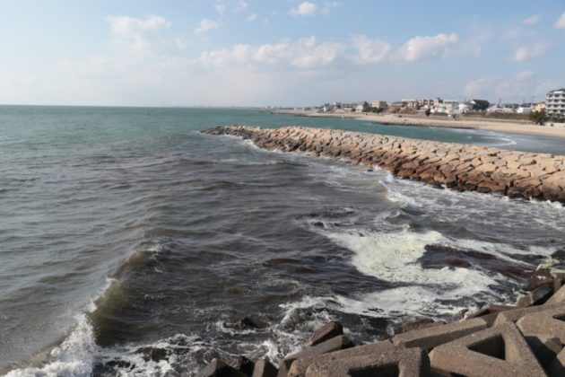 林崎漁港の生活排水エリアの写真