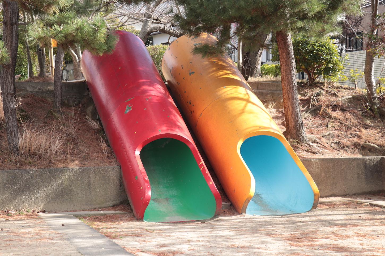 パイプ型滑り台
