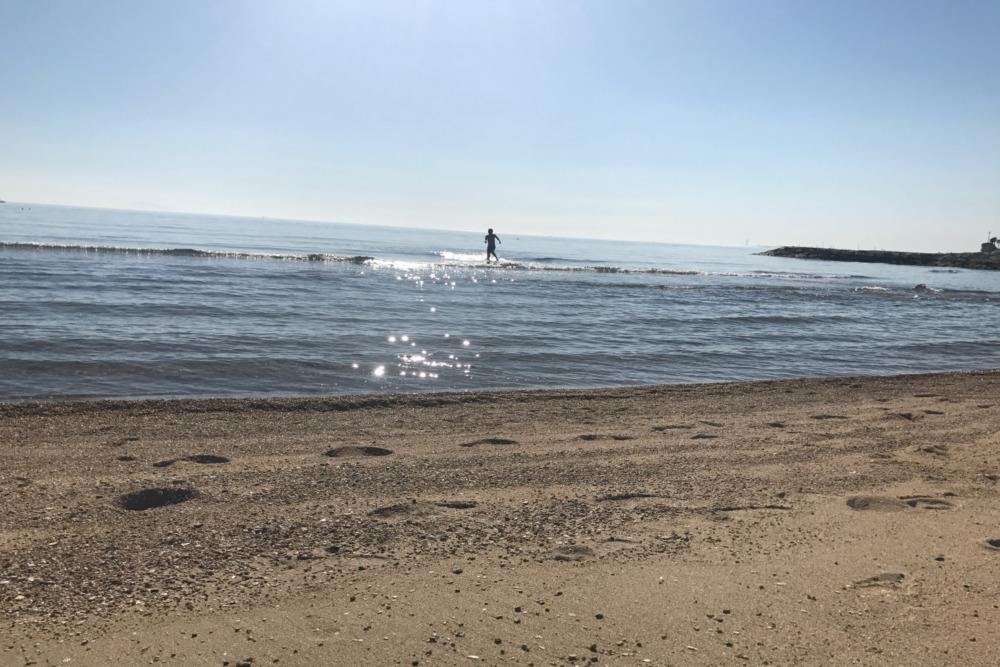遠浅で安全な海岸