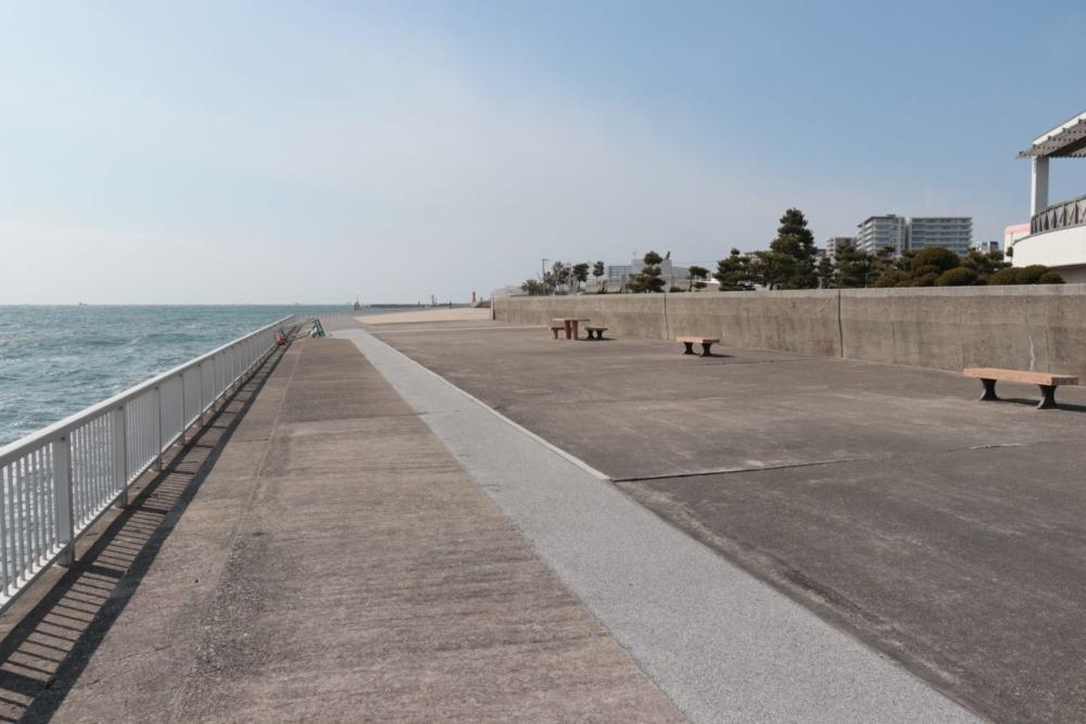 明石海浜ベランダ東側(西向き撮影)