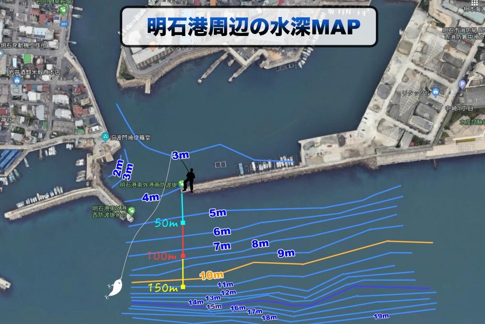 明石港水深MAP