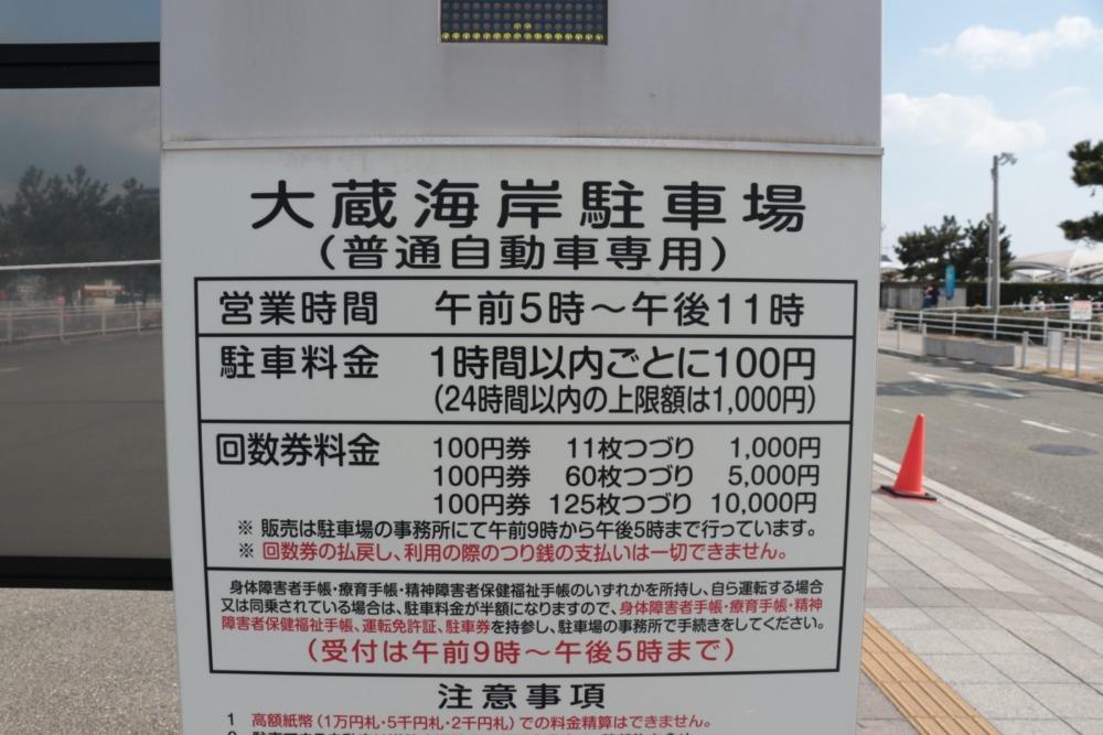 大蔵海岸駐車場