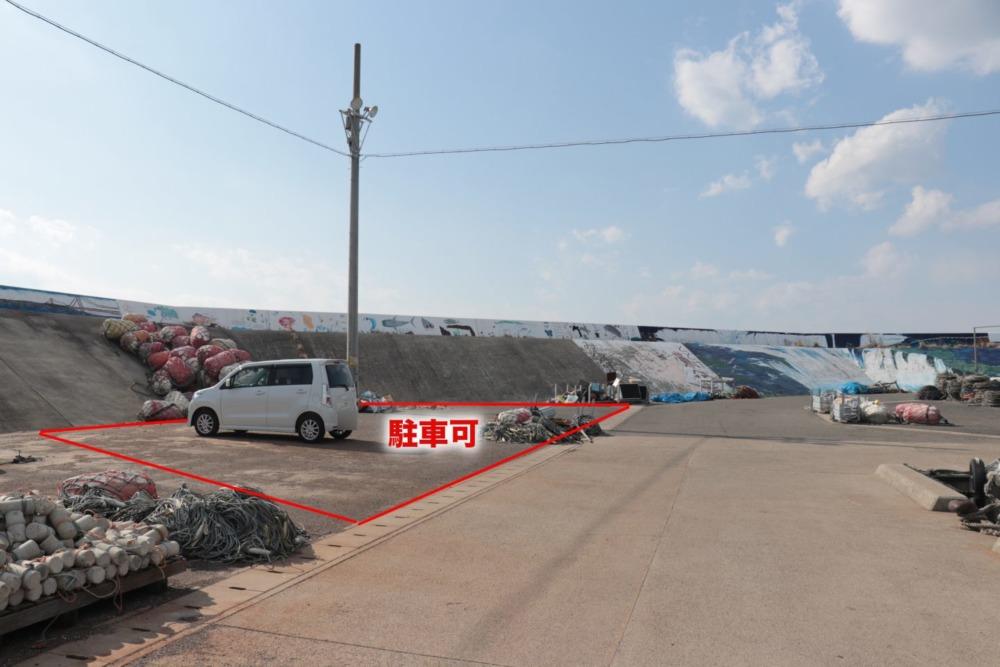 明石新波止駐車可能位置